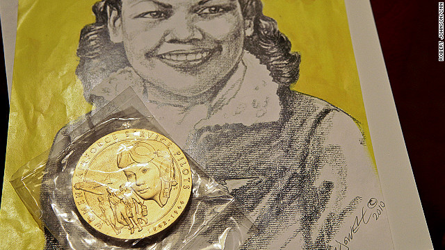 "In February, Mildred Carter received a WASP medal with the inscription: ""The First Women in History to Fly America"""