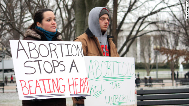 Abortion foes rally in front of the White House on Sunday, marking the anniversary of the Supreme Court's Roe v. Wade decision.