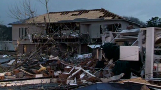 Severe storms level buildings in Alabama