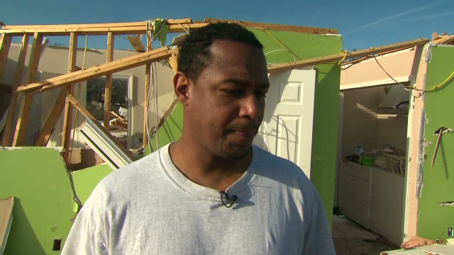 Family survives storm as house collapses
