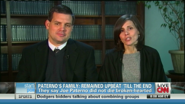 Paterno's family discuss his final days