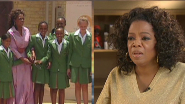 Oprah Winfrey proud of school for girls