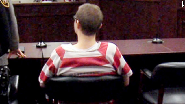 Brogan Rafferty, 16, appears in court Monday in Akron, Ohio. Rafferty is accused of helping to lure men to their deaths.