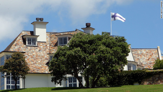 """Dotcom Mansion"" in Auckland, New Zealand, where four men were arrested Friday in connection with Megaupload."