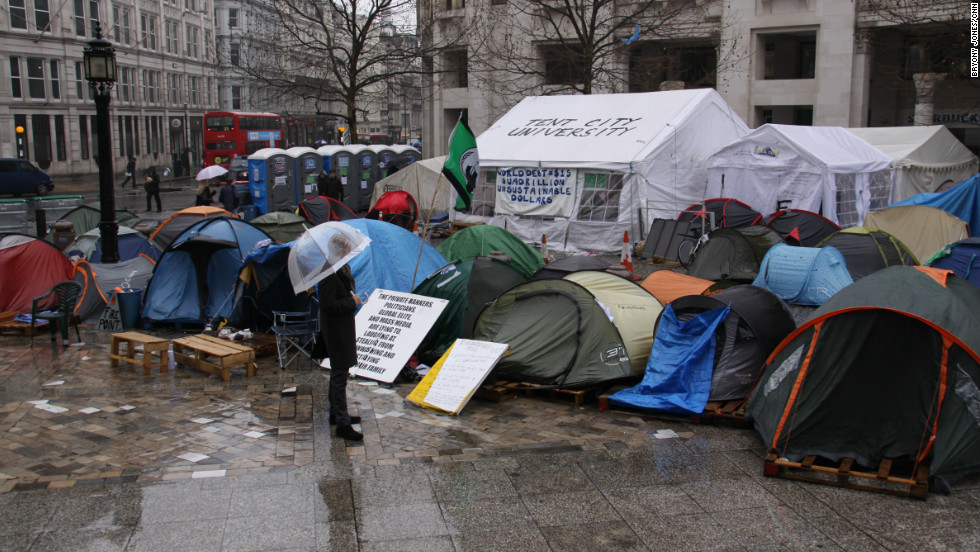 Some 600 miles away in London, members of Occupy London have this week celebrated the 100th day of their protest camp outside St Paul's Cathedral.
