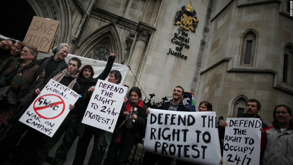Last week the City of London Corporation won its legal bid to have the camp evicted from the pavement around the cathedral, but protesters say they will appeal.