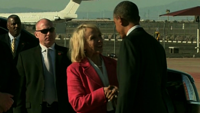 Heated exchange for Obama in Arizona