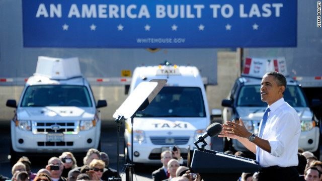 President Obama spoke at a UPS freight facility in Las Vegas, Nevada Thursday.