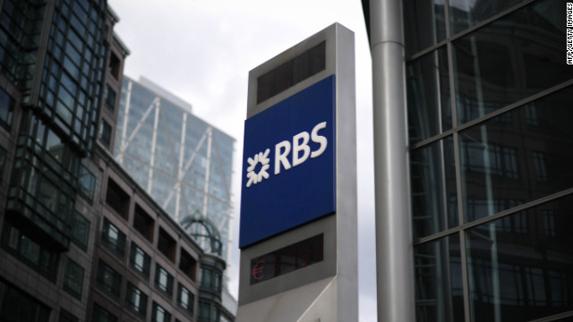 Royal Bank of Scotland (RBS) has been hit by the Libor investigation.