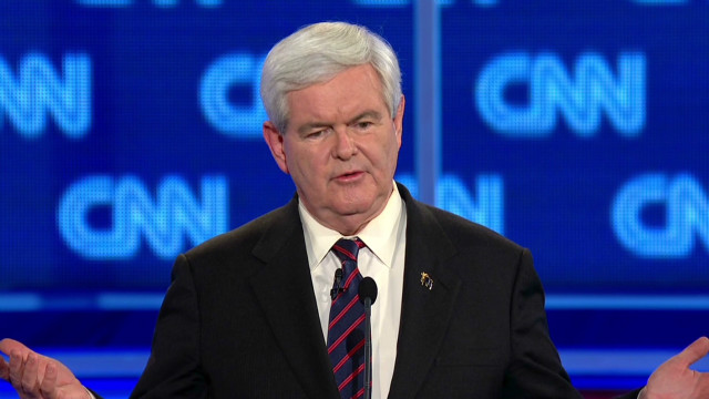 Gingrich: Palestine an 'invention'