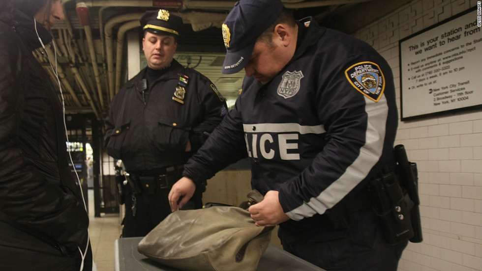 Riders make more than 10 billion trips a year on U.S. public transit services, according to the American Public Transportation Association. New York City police sometimes screen passenger bags at subway stops. TSA officers may coordinate with police on these operations.