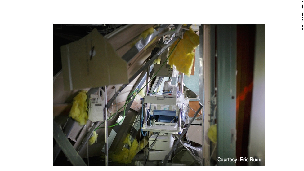 The storm wrecked the hospital's interior. At the time, residents 70 miles away from Joplin in Dade County, Missouri, found X-rays from St. John's in their driveways, Foreman said.