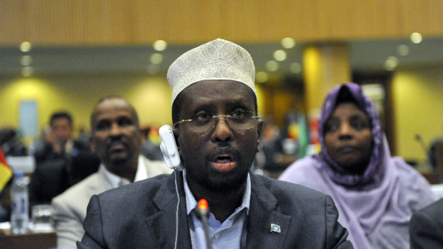 Somalia President Sharif Ahmed pictured at a U.N. meeting in 2011.