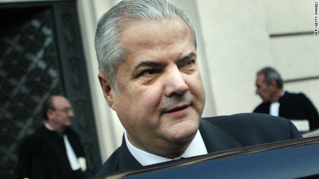 Former Romanian Prime Minister Adrian Nastase leaves the High Court of Justice during his trial.