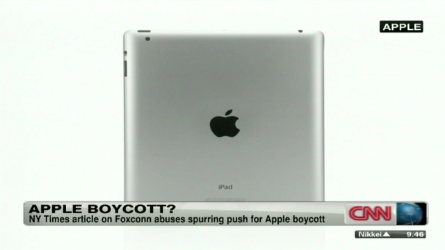 Apple threatened with product boycott