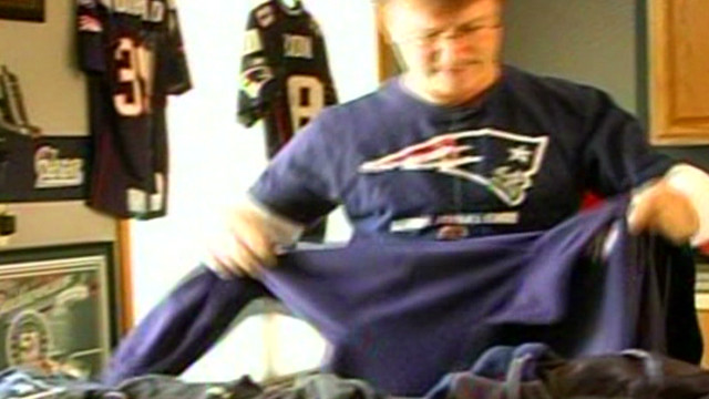Patriots super fan shows off collection