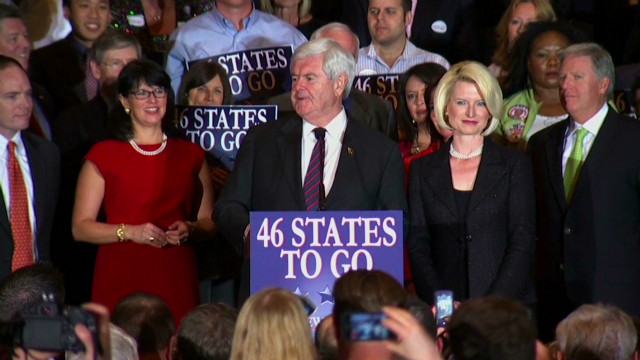 Gingrich says it's a two-person race
