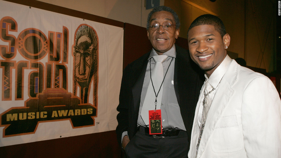 Cornelius posed with singer Usher at the 19th Annual Soul Train Music Awards in February 2005.