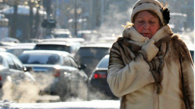 In the Ukrainian capital of Kiev temperatures dropped to -20° degrees Celsius.