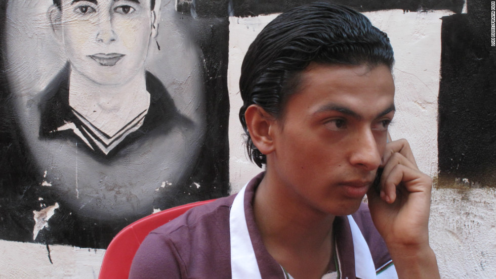 "Mark Nabil, 19, campaigning for the release of his brother Maikel in the film ""Back to the Square."""