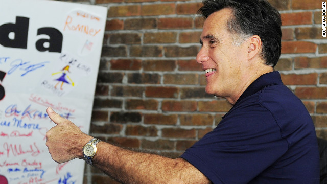 Republican presidential hopeful Mitt Romney joins volounteers to make calls to potential voters as he visits his campaign headquarter in Tampa, Florida, January 31, 2012. Florida holds its Republican primary on January 31, 2012. AFP PHOTO/Emmanuel Dunand (Photo credit should read EMMANUEL DUNAND/AFP/Getty Images)