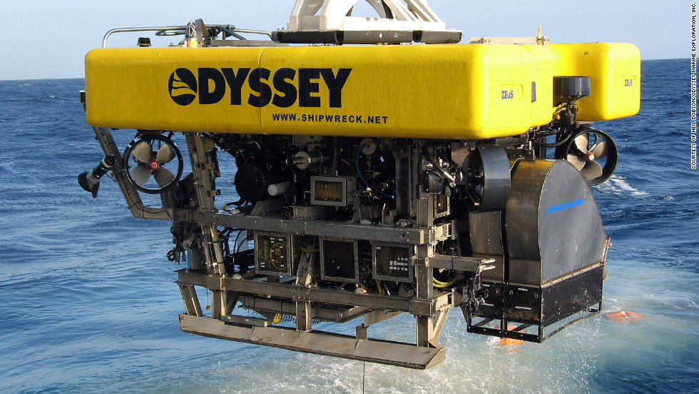 This eight-ton Remotely Operated Vehicle (ROV) was used to retrieve the treasure from the seabed more than 1,000 meters below the ocean's surface.