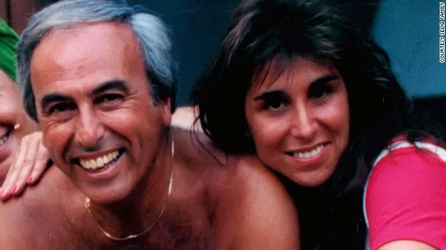 Roni Selig poses for a photo with her dad before his death. He died at 71 after fighting non-Hodgkin's lymphoma.