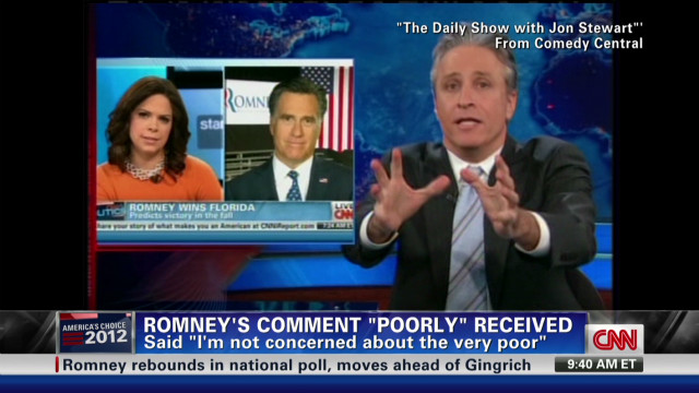 Critics take on on Romney's 'poor' line