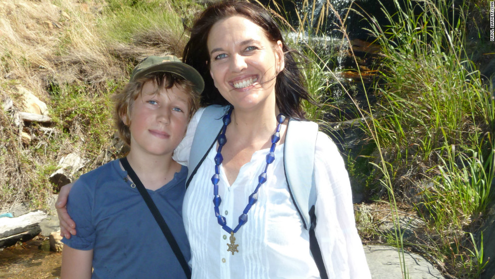 "Caron von Zeil and her son. Caron founded ""Reclaim Camissa"" to protect Table Valley's water resources."