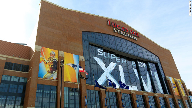 Lucas Oil Stadium is ready for Super Bowl XLVI between the New York Giants and New England Patriots.