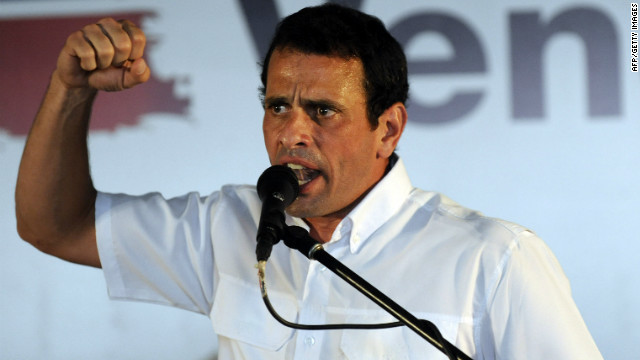 Venezuelan candidate for the upcoming primaries, Henrique Capriles Radonski