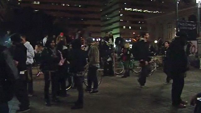 Occupy Oakland protesters hit the streets on Saturday a week after a march led to hundreds of arrests near City Hall.