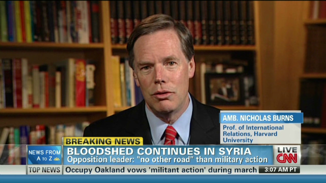 Burns: Syria to descend into more chaos