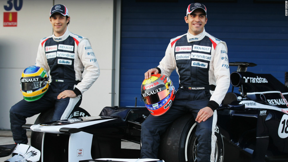 British team Williams unveiled their new FW34 car at the Jerez test event in Spain on Tuesday. Williams had a torrid season last year, picking up just five points.