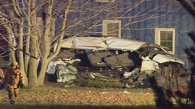 This accident northeast of Stratford, Ontario, took a terrible toll -- 11 people dead.