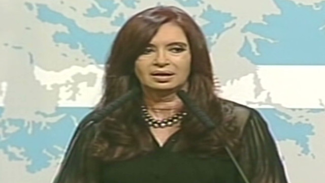 Kirchner to UK: 'Give peace a chance'