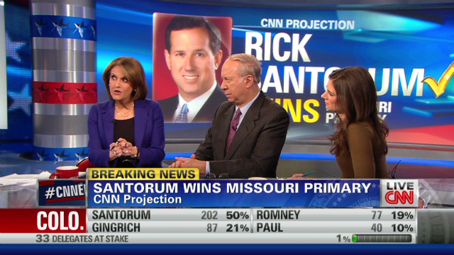 Santorum 'interrupts' Romney's march