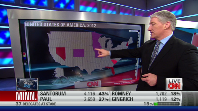 Santorum running strong in early results