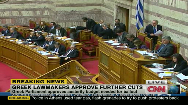 Greece approves new austerity measures