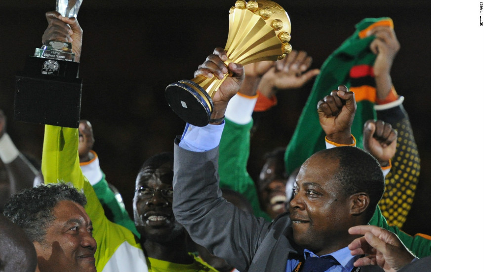 It was a poignant win for Zambia, who lost 18 members of their squad in a plane crash in Gabon in 1993. Kalusha Bwalya, the president of the Football Association of Zambia and one of the surviving members of the squad, was on hand to celebrate with the team.