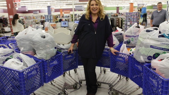 Before trips to Ghana, which she takes several times a year, Delilah loads up at Goodwill.