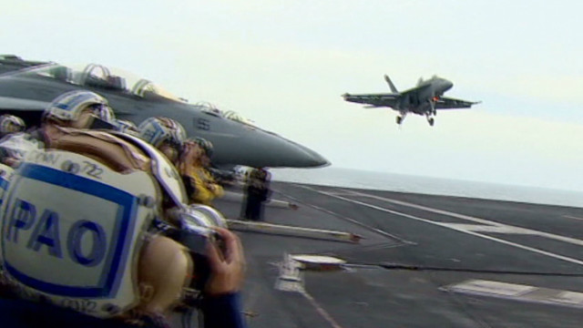 U.S. aircraft carrier sails near Iran