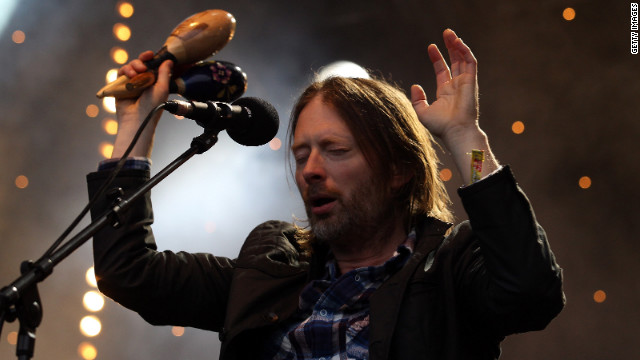 Thom Yorke of Radiohead, shown here performing at the Glastonbury Festival in 2011, will perform at Bonnaroo.