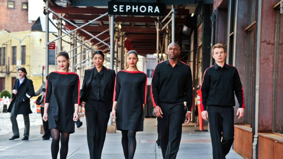 Sephora's beauty advisers will begin wearing uniforms in April designed by Prabal Gurung exclusively for the cosmetics retailer.