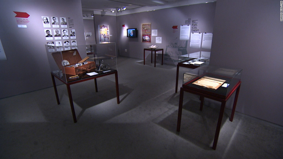 "Exhibit at the Museum of the Jewish People ""Operation Finale: The Story of the Capture of Eichmann."" To bring Adolf Eichmann to justice, 11 agents traveled to Argentina, where Eichmann was thought to be hiding."