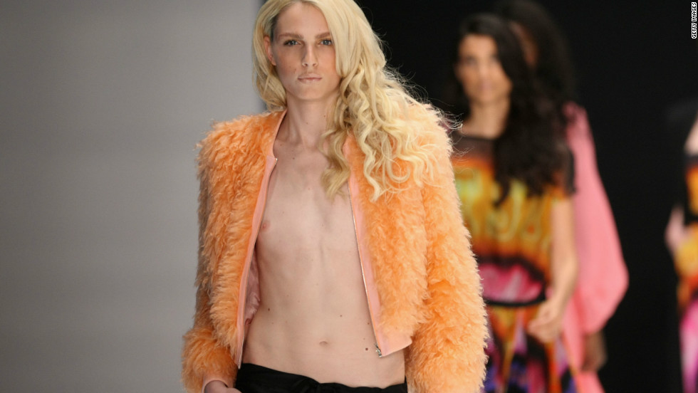 Pejic showcases his feminine side as he walks the runway at the Michalsky Autumn/Winter 2012 fashion show in Germany.
