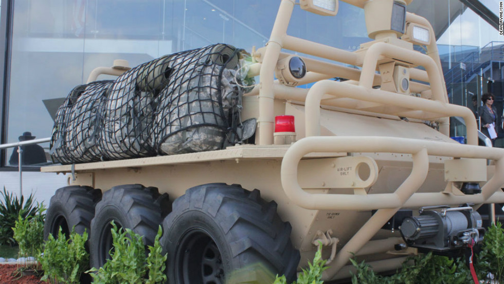Unmanned land vehicles could also be a big part of military operations in the future. Lockheed Martin's Squad Mission Support System is being tested in Afghanistan.