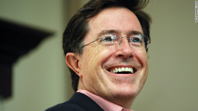 The suspension of Stephen Colbert's Comedy Central show has not been explained.