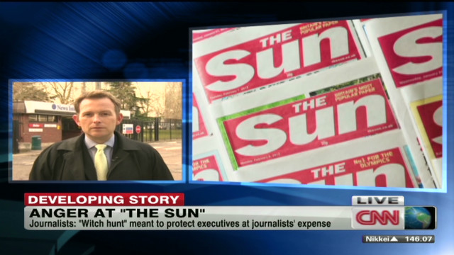 "Tension high at ""The Sun"" newspaper"