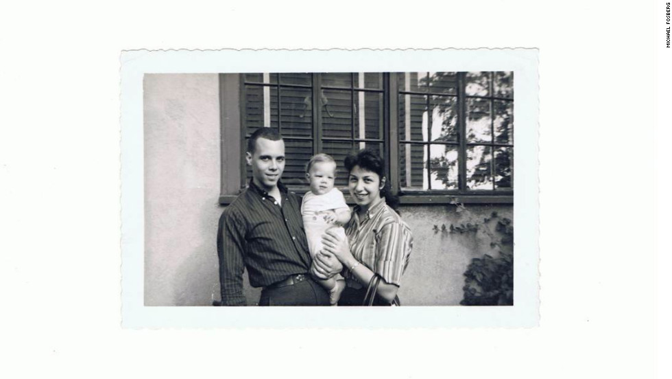 Fosberg didn't see this photo of himself as a baby with his Armenian mother and his light-skinned African American father until he was an adult.
